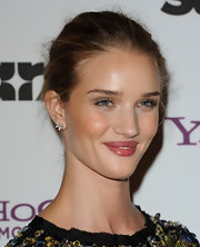 A pair of spiky diamond studs finished off Rosie Huntington-Whiteley's look in edgy style.