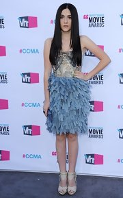 Isabelle Fuhrman donned a ruffled creation for the Critics' Choice Awards.