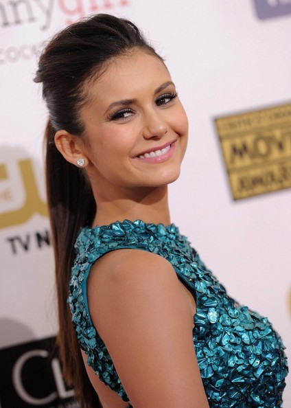 More Pics of Nina Dobrev Beaded Dress (1 of 4) - Beaded Dress Lookbook - StyleBistro