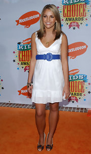 Jamie Lynn Spears looked fabulous in multicolored peep-toe pumps at the 19th Annual Kids' Choice Awards.