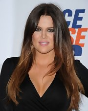 Khloe Kardashian wore her ombre locks long and straight for the 19th Annual Race to Erase MS Gala.
