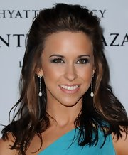 Lacey Chabert swept her hair back into an elegant 'do featuring long tousled lengths.