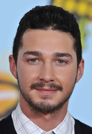 Shia LaBeouf sported a retro hightop fade hairstyle at the 2008 Kids' Choice Awards.