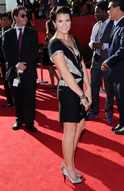 Danica Patrick struck a pose in a pretty little black dress at the ESPY Awards.