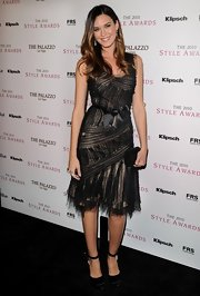 Odette donned a black and nude tulle gown with intricate texture details for the Style Awards.