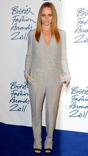 Stella McCartney wore a standout plaid jumpsuit at the British Fashion Awards.
