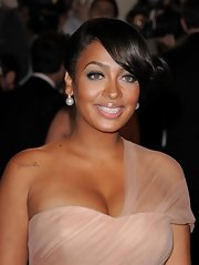 La La Anthony finished off her Met Gala look in classic style with a pair of pearl drop earrings.
