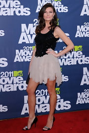 Music executive Julia Kurbatova rocked a pair of embellished evening sandals for the MTV Music Awards.