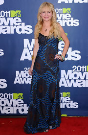 Britt Robertson brought a boho vibe to the 2011 MTV Movie Awards with this print maxi dress.