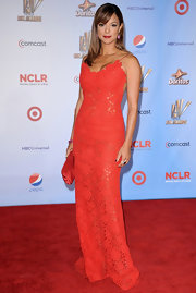 Eva la Rue heated up the 2011 NCLR ALMA Awards red carpet in this sheer lace number.