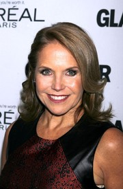 Katie Couric attended the Glamour Women of the Year Awards wearing a sweet half-up wavy 'do.