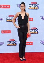 Rumer Willis chose a pair of high-waisted black pants to complete her outfit.