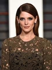Ashley Greene didn't need much more than this simple straight 'do to look stunning at the Vanity Fair Oscar party.