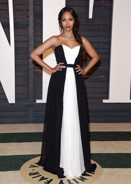 And dressed to impress in Prabal Gurung at the Vanity Fair Party