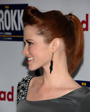 Sarah Drew looked polished and put together in a sleek ponytail at the GLAAD Media Awards.