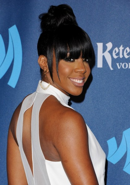 More Pics of Kelly Rowland Hair Knot (1 of 10) - Kelly Rowland Lookbook - StyleBistro