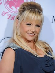 Charlene Tilton had her locks half tied up for the Hope Ball event.