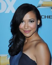 Naya Rivera showed off her long side swept curls while hitting the red carpet.