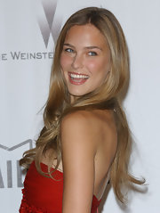 Bar Refaeli curled her long dark blond locks for the amfAR gala at Cannes.