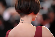 Natalie Imbruglia's Sanskrit lettering tattoo was on full display, thanks to her short 'do and backless dress at the Cannes Film Festival.