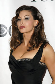 Metallic silver eyeshadow gave Gina Gershon subtle shimmer when she attended the Tony Awards.