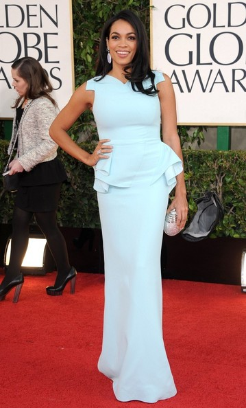 More Pics of Rosario Dawson Evening Dress (1 of 6) - Rosario Dawson Lookbook - StyleBistro