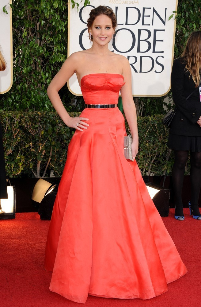 Jennifer+Lawrence in 70th Annual Golden Globe Awards
