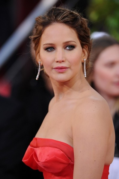 More Pics of Jennifer Lawrence Strapless Dress (1 of 10) - Jennifer Lawrence Lookbook - StyleBistro