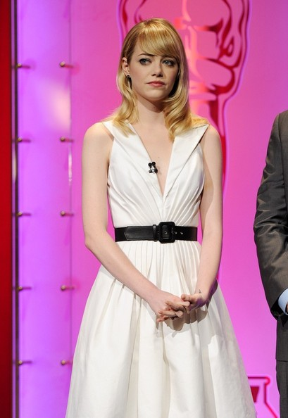 More Pics of Emma Stone Leather Belt (1 of 9) - Emma Stone Lookbook - StyleBistro