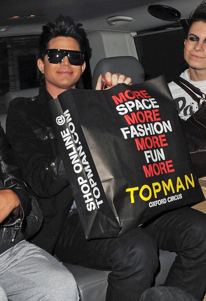 More Pics of Adam Lambert Oversized Sunglasses (1 of 6) - Adam Lambert Lookbook - StyleBistro