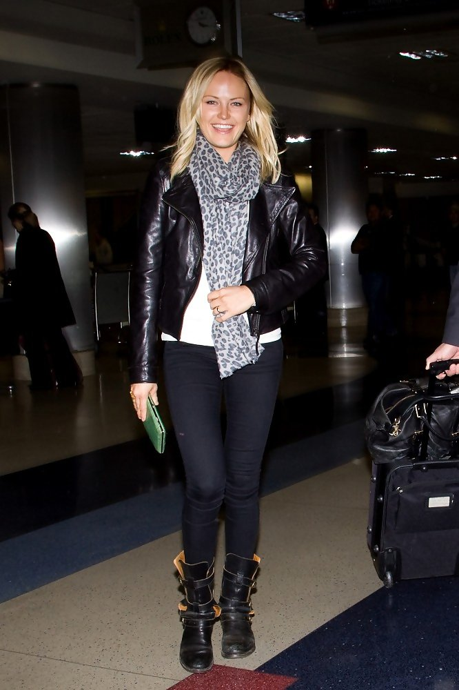 Malin Akerman at LAX