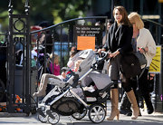 Jessica Alba was on chic mommy duty in NYC with daughters Haven and Honor. She donned knee-high leather boots for the occasion.