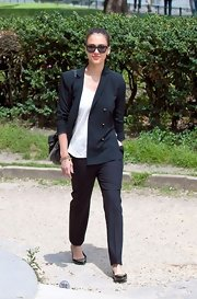 We can't deal with how cute these trousers looked with a loose white tee, oversized blazer, and pointy-toe flats.