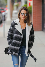 Alessandra Ambrosio accessorized with a chic pair of Illesteva Leonard sunglasses for a day out.