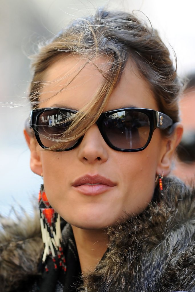 More Pics of Alessandra Ambrosio Rectangular Sunglasses (4 ...