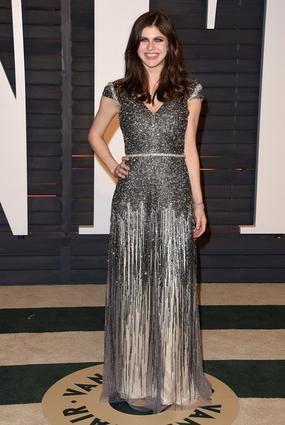Alexandra Daddario Beaded Dress