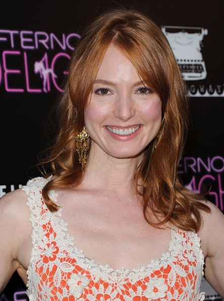 Alicia Witt Long Straight Cut with Bangs