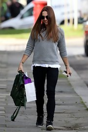 Mel C got back to her sporty roots with a pair of simple black skinny pants.