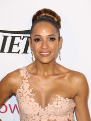 Dania Ramirez attended the Power Up Gala sporting a massive bun.