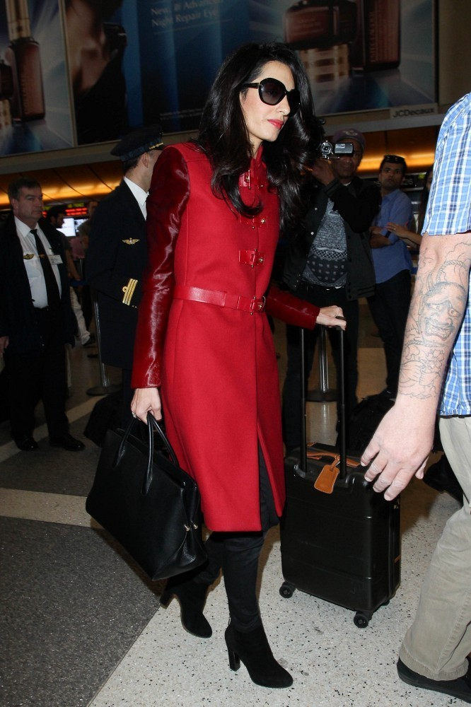Amal Clooney seen at LAX