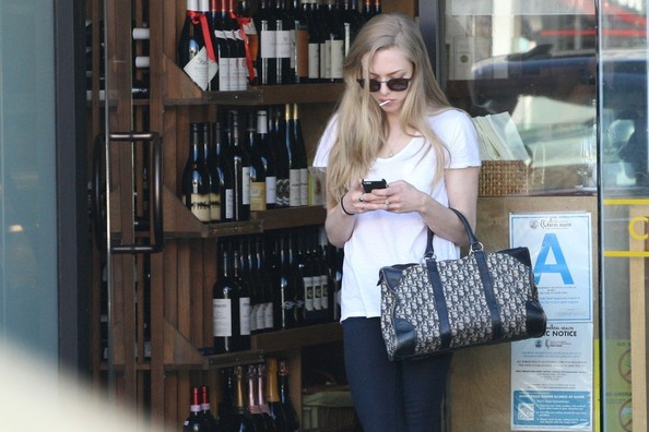 Amanda Seyfried Printed Bowler Bag