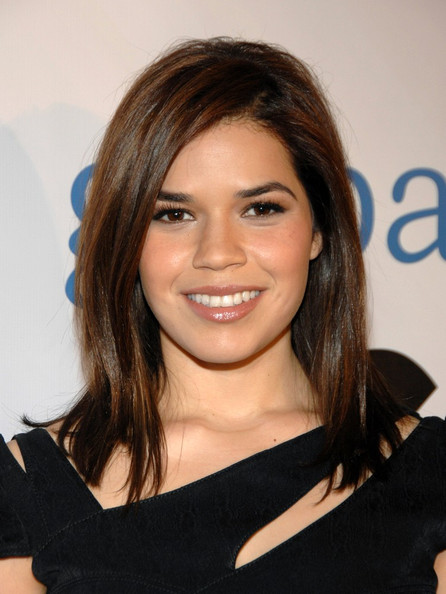 America Ferrera Medium Straight Cut