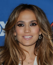 'American Idol' judge Jennifer Lopez attended the finalist party wearing Cobblestone crystal earrings in 18-karat noble gold with rock crystal and diamonds.