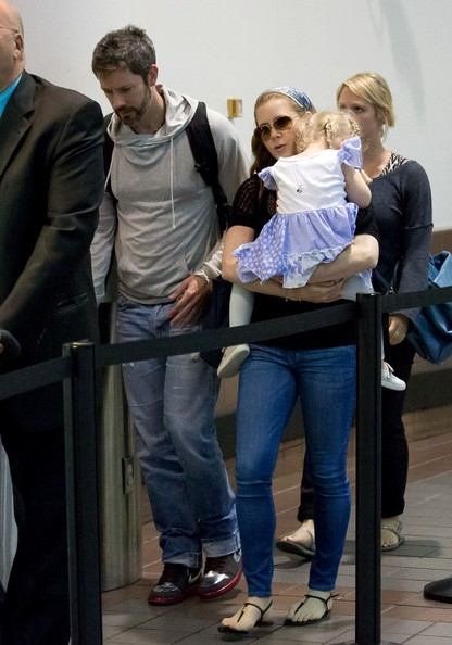 Amy Adams and Family at LAX