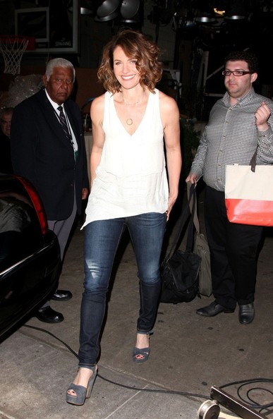 Amy Brenneman Platform Sandals