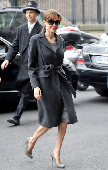 Angelina Jolie Wool Coat