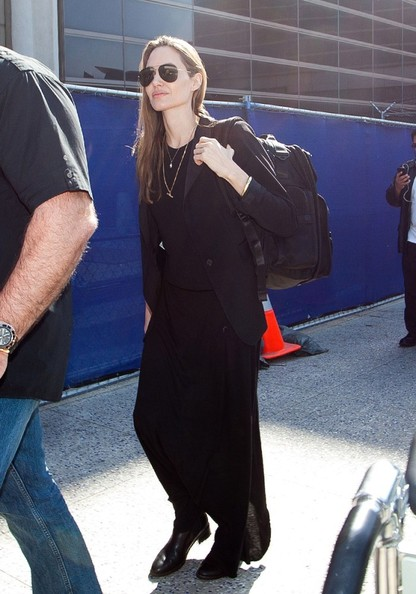 Angelina Jolie in jet black.