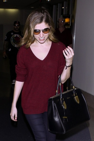 Anna Kendrick Leather Tote