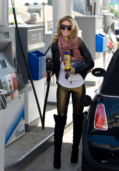AnnaLynne McCord Over the Knee Boots