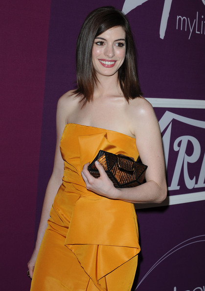 Anne Hathaway Buckled Clutch